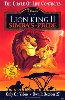 The Lion King 2: Simba s Pride เดอะไลอ้อนคิง ภาค2: ซิมบ้าเจ้าป่าทรนง (1998)